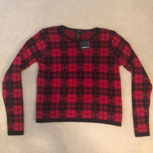 Forever 21 plaid sweater. New with tags. NWT.